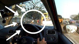 Bangalore Traffic Police Cop Throwing Chappal   Bangalore Roads 62