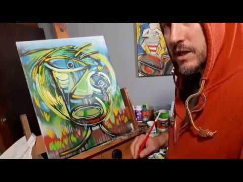 Raeart Live Painting How To Blend ABSTRACT FACE ART