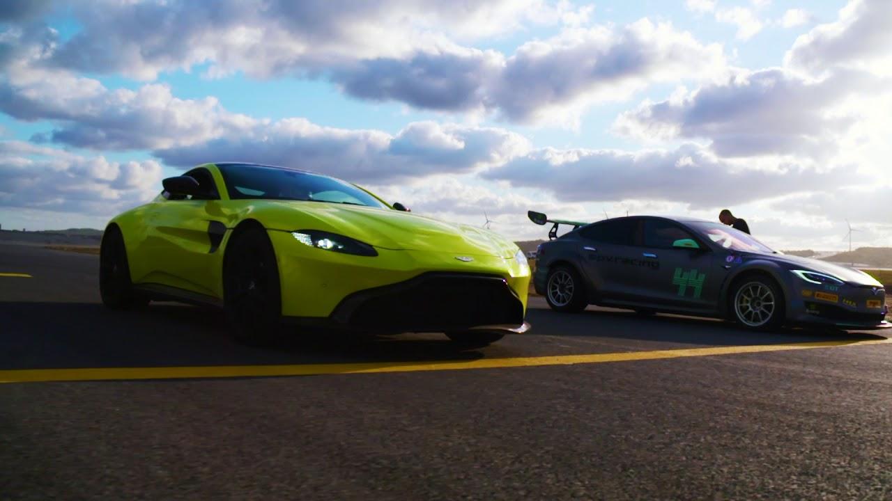 Racing Tesla vs fighter jet, aircraft and Formula one car