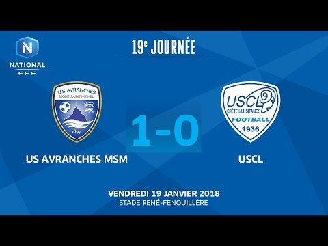 J19 : US Avranches MSM - USCL (1-0), le replay