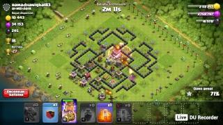 clash of clans , visitando vilas ,e push na lendaria
