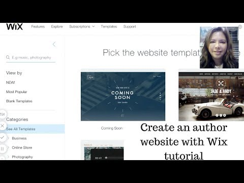 Tutorial to create a professional website with Wix for autho