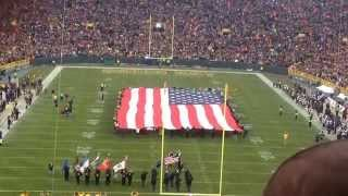 Lambeau Field flyover. 11/16/2014 vs the Philadelphia Eagles.
