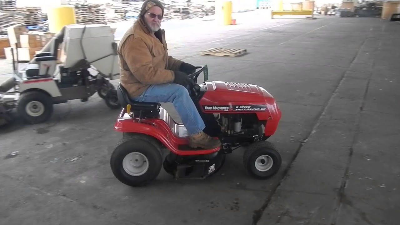 maxresdefault yard machines by mtd 6 speed shift on the go riding lawn mower  at gsmportal.co