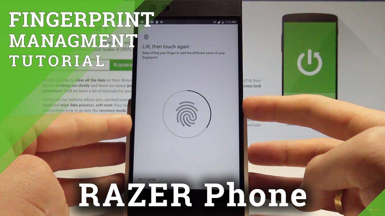 How to Add Fingerprint on RAZER Phone - Unlock Screen by Fingerprint  |HardReset Info