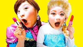Pretend Elsa Pikachu Happy Birthday ごっこ遊び 子供向け 幼児向け