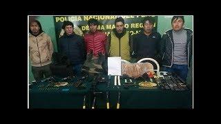 Puno: capturan a 6 presuntos miembros de banda criminal que asaltaba a mineros