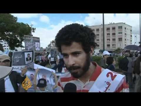 Protesters demand reform in Morocco
