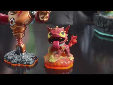 Carlos Alazraqui and Tom Kenny both voice Classic Spyro and Skylanders Hot Dog