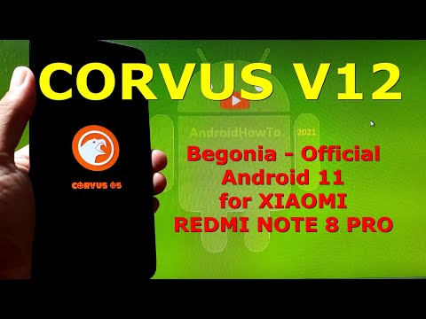 Corvus v12 Official Android 11 for Redmi Note 8 Pro Begonia - Custom ROM