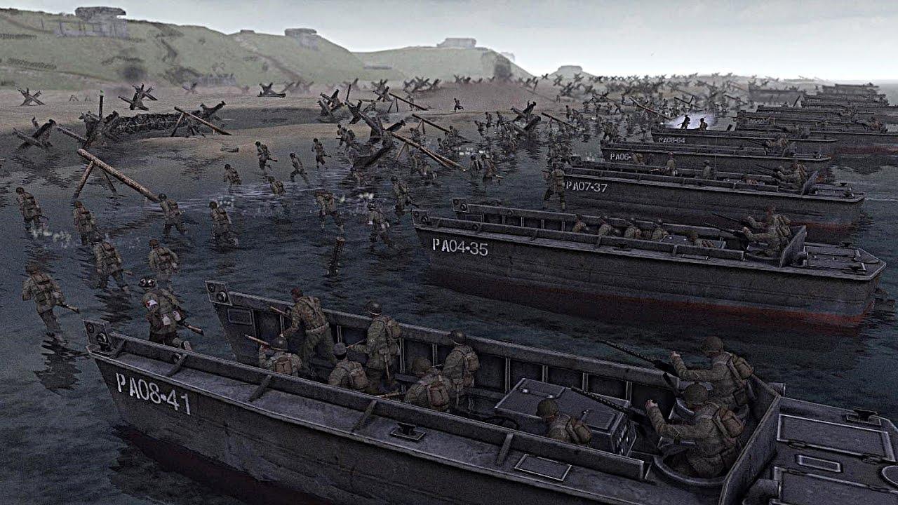 El Desembarco De Normandia Playa De Omaha Men Of War Gameplay En