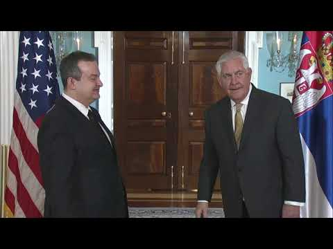 Secretary of State meets with Serbian First Deputy Prime Minister, WASHINGTON, DC, USA, 02.09.2018
