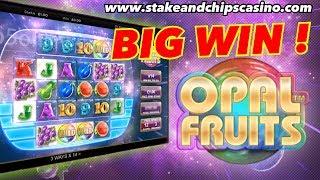 FINALLY !! WIN on Opal Fruits Slot !! BIG WIN - Online Casino Game
