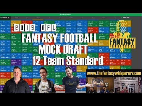 2019 NFL Fantasy Football 12 Team 1/2 PPR Mock Draft On Sleeperbot  Episode 070