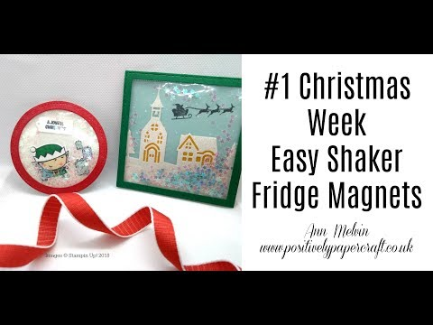 #1 Christmas Week - Easy Shaker Fridge Magnets