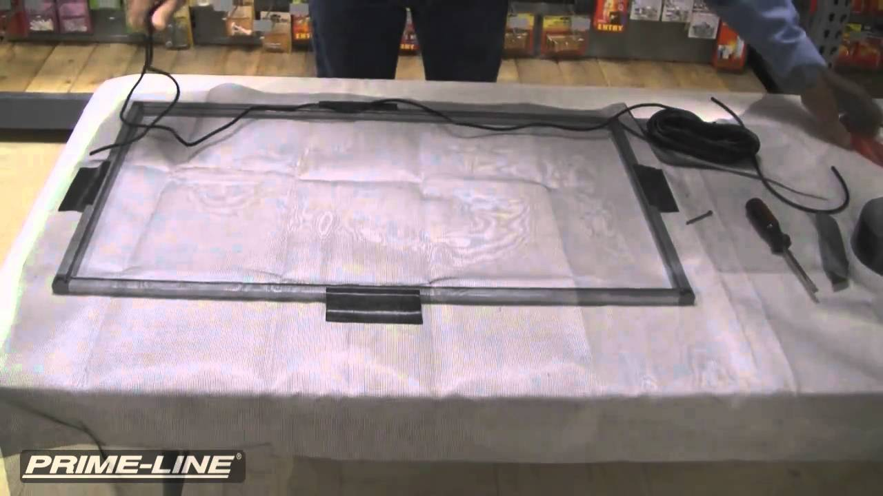 re screening a damaged window screen youtube - Window Screen Frame Replacement