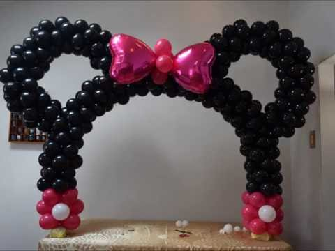 Minnie Mouse Table Balloon Arch Diy Beautiful Balloon