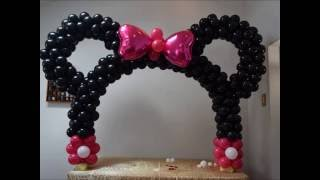 Minnie mouse table balloon arch  DIY Beautiful balloon decor piece for Mickey birthday parties