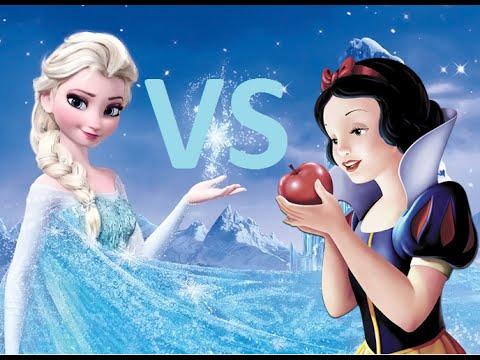 Princess Rap Battle - Snow White VS Elsa (Whitney Avalon ft. Katja Glieson) - LYRICS