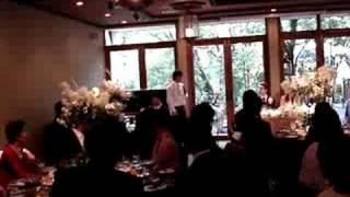 結婚式にいとこが歌ってくれました。心に響きました。ありがとう!