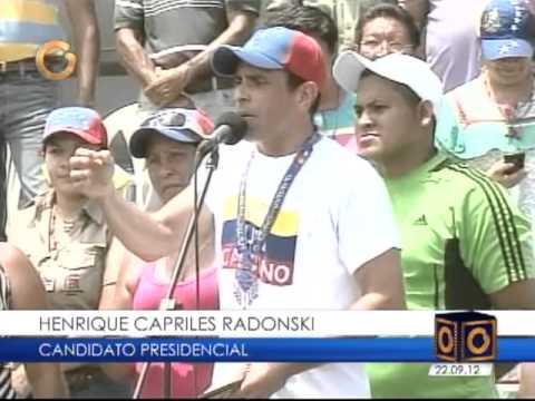 Así fue la visita de Capriles este sábado a Valencia