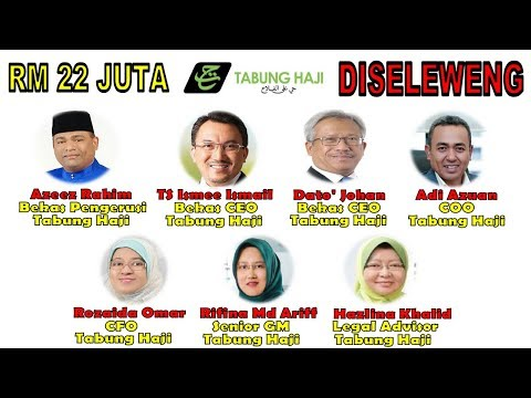 KENALI MUKA PENYAMUN Tabung Haji SELEWENG RM 22 Juta!!!!