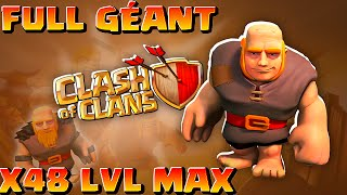 Clash of Clans ~ Attaques 48 Géants Level MAX