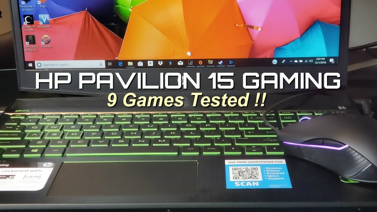 HP Pavilion 15 Gaming - 9 Games Tested ! - YouTube