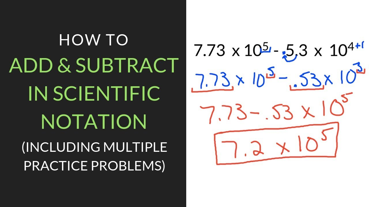 6 Easy Steps for Adding and Subtracting in Scientific Notation   Mathcation [ 720 x 1280 Pixel ]