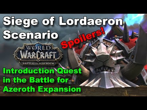 Battle for Lordaeron Scenario [Spoilers!]  First Quest When Battle for Azeroth Launches