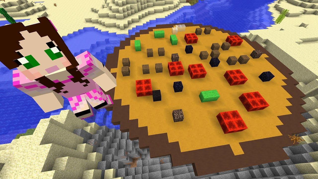 Minecraft Giant Pizza Challenge Eps9 35 Youtube