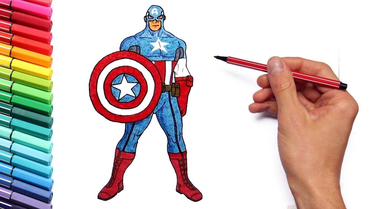 How to Draw Captain America - Marvel Avengers Superheroes Captain ...
