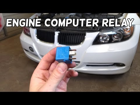 ECU ECM DME ENGINE COMPUTER RELAY LOCATION REPLACEMENT BMW