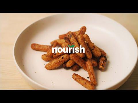Thumbnail to launch Tajin Spiced Roasted Carrots video