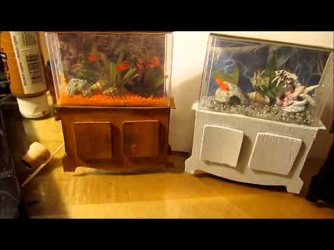 Miniature Fish Tank For Dollhouse Youtube