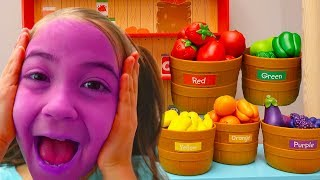 Learn Names of Fruit & Vegetables That Turn Face Colors