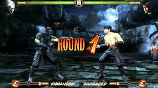 Mortal Kombat Komplete Edition PC gameplay Smoke vs Liu Kang