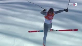 JO 2018 : Combiné Alpin - Descente Hommes : La chute impressionnante de Pavel Trikhichev