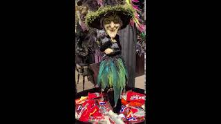 """Katherine/'s Collection 26"""" Witch Candy Container Halloween Display NEW 28-828320"""