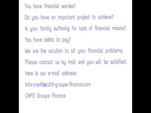 Receive your credit with CAFD Groupe Finance