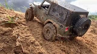 RC car : Jeep Wrangler Rubicon JK 2door off-road bash! #4.
