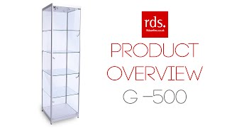 G-500 Glass Display Cabinet