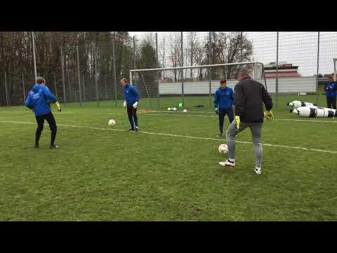 Torwart Torspieler Praxis Fortbildung mit Thomas Schlieck von Borussia Dortmund