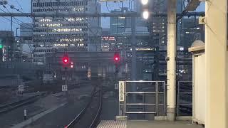 東海道線185系0番台宮オオA7編成+宮オオC4編成特急踊り子16号東京駅到着