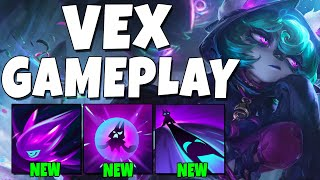 VEX GAMEPLAY! SHE IS SO INSANE!!! - League of Legends