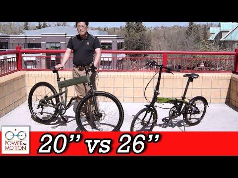 "Comparison of 26"" vs 20"" inch Folding Bikes - Calgary | Tern | Montague | Dahon | Brompton | Alberta"