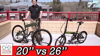 "Comparison of 26"" vs 20"" inch Folding Bikes - Calgary 