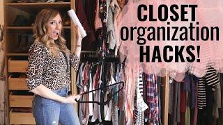 Closet Organization Hacks! (How to organize your closet!)