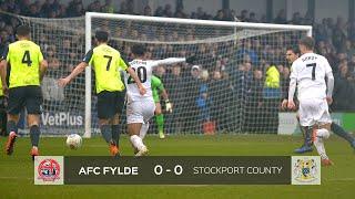 HIGHLIGHTS | AFC Fylde 0 - 0 Stockport County