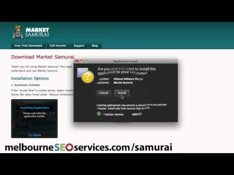 Market Samurai: Downloading & Installing Your FREE Trial
